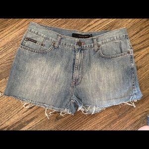 Calvin Klein Jean Denim Cut Off Shorts